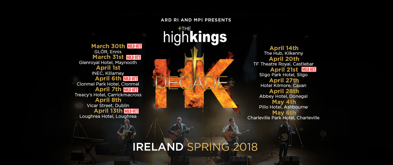 the high kings sold out in sligo park hotel