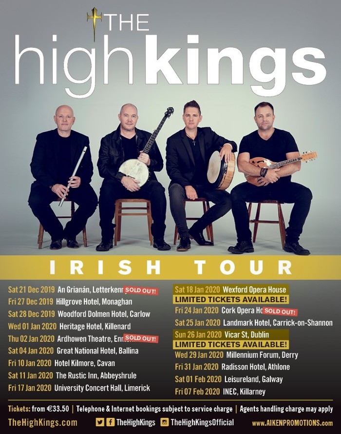 The High Kings Irish Tour.