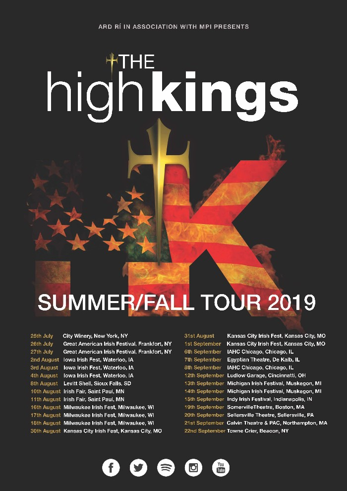The High Kings counting down to start of US Tour.
