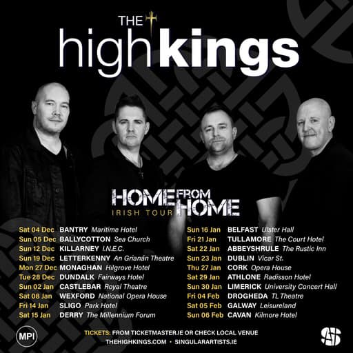 We are absolutely thrilled to finally be announcing an Irish Tour!