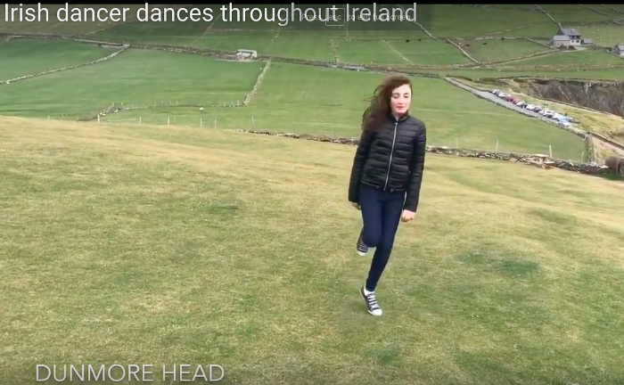 Caterina Dances Around Ireland with The High Kings !