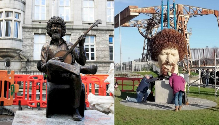 Unveiling of Luke Kelly Statues.