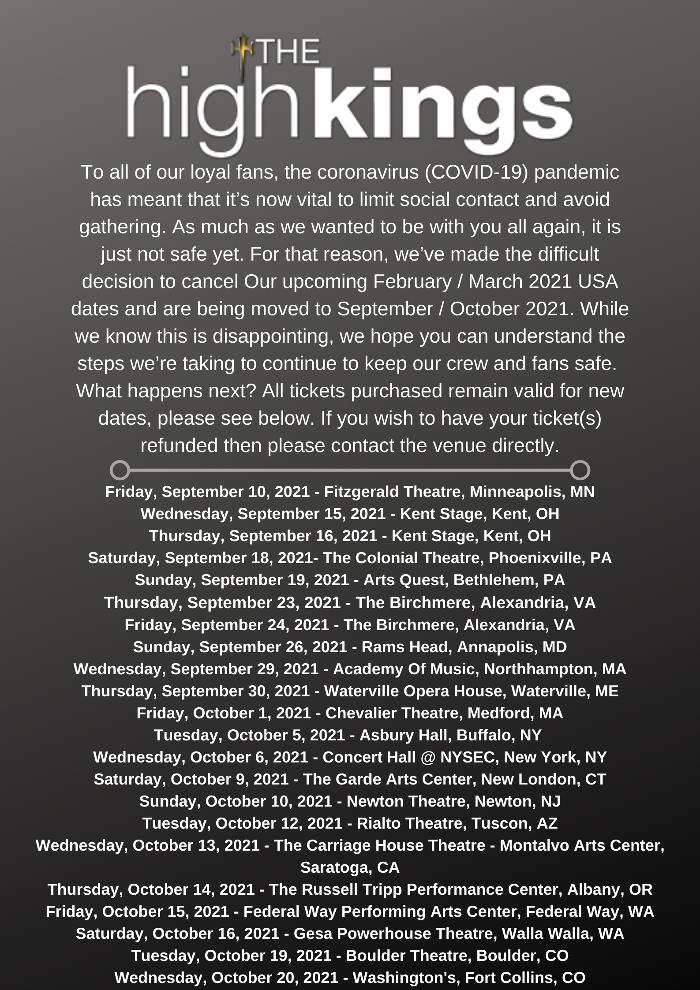 US Tour 2021 !