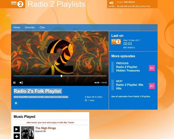 The High Kings feature on BBC2 Folk Playlist