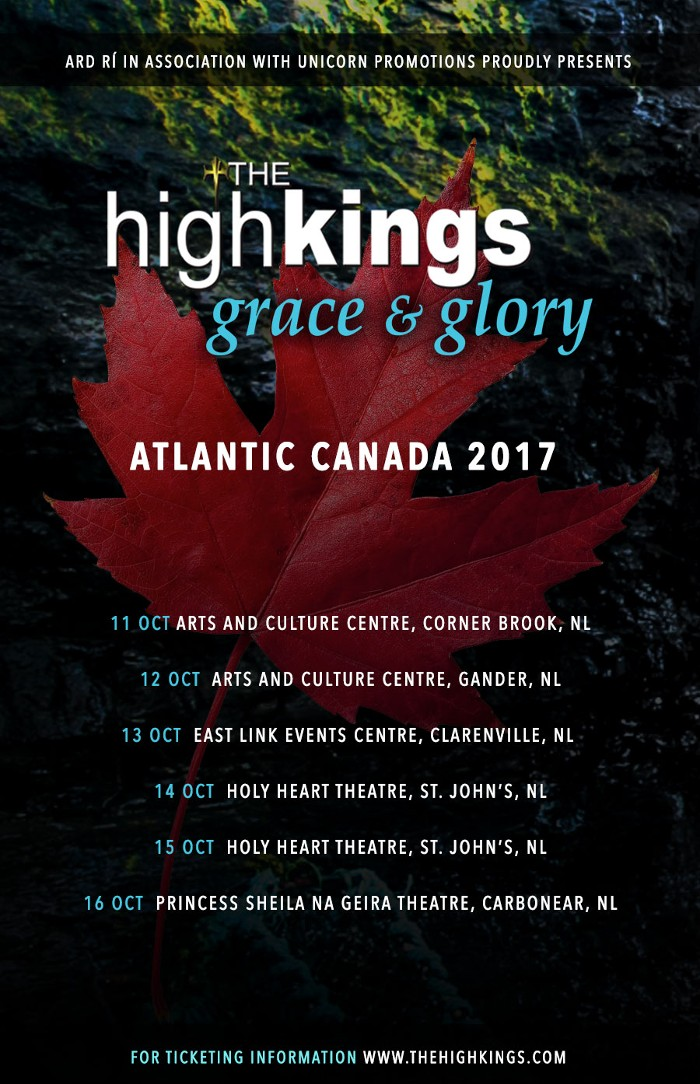 Tickets are selling quickly for our Atlantic Canada Tour
