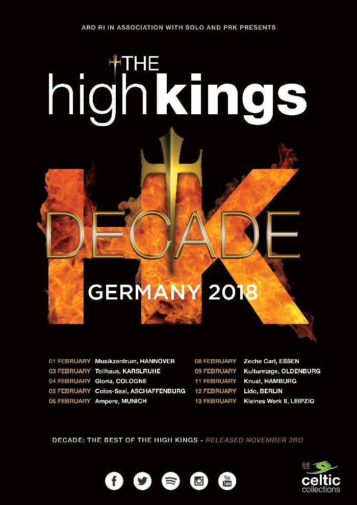 The High Kings Announce Germany 2018 Tour Dates
