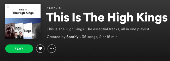'This is The High Kings' now on Spotify !!!
