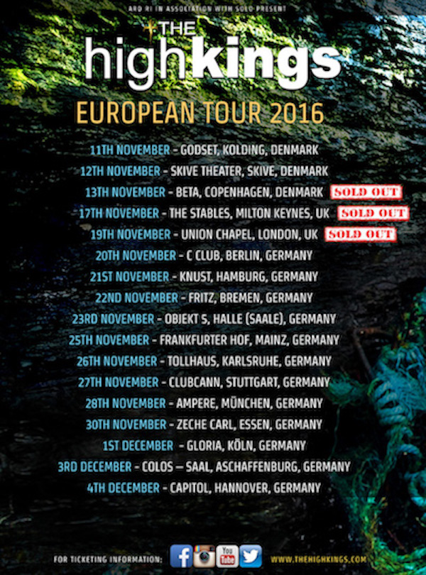 New European Tour Dates Announced