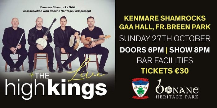 The High Kings October Irish Dates