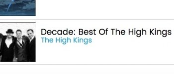 The High Kings new album 'Decade' enters Billboard World Music Chart !