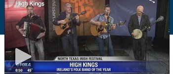 The High Kings perform live on US TV.