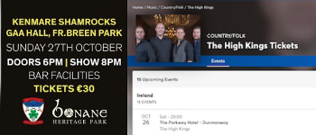 The High Kings - Two Irish Shows This Week