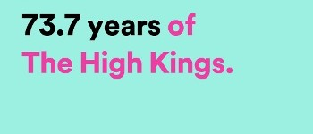 The HIgh Kings combined listening on Spotify in 2016 comes to over 73 years !!!