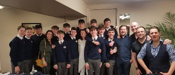 St. Brendan's College Killarney Music Dept. appear with The High Kings at INEC.