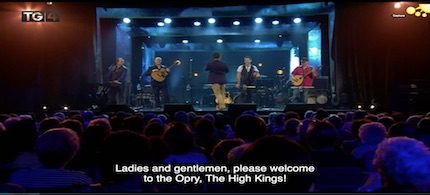 The High Kings on TG4's Opry an Iúir